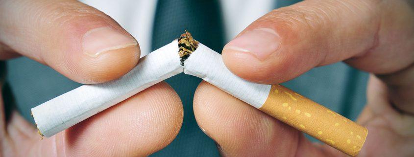 A cigarette broken in half