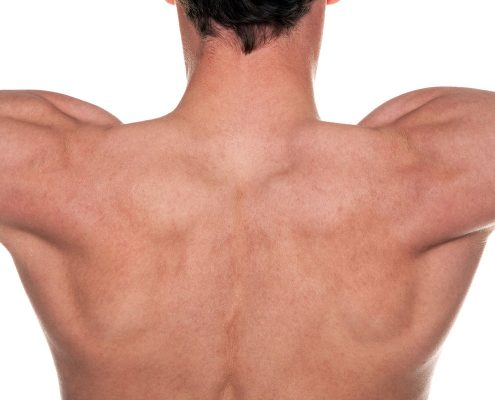 Man's Shoulders, Arms Outstretched