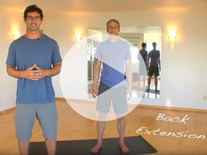 A video still from a back extension demonstration