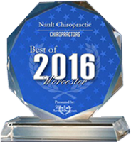 2016 Best of Worcester Award, given to Nault Chiropractic
