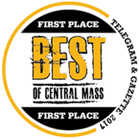 2017 First Place Best of Central MA badge