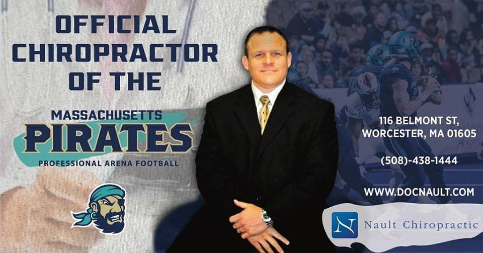 Steve Nault, Chiropractor for the Massachusetts Pirates Arena Football Team